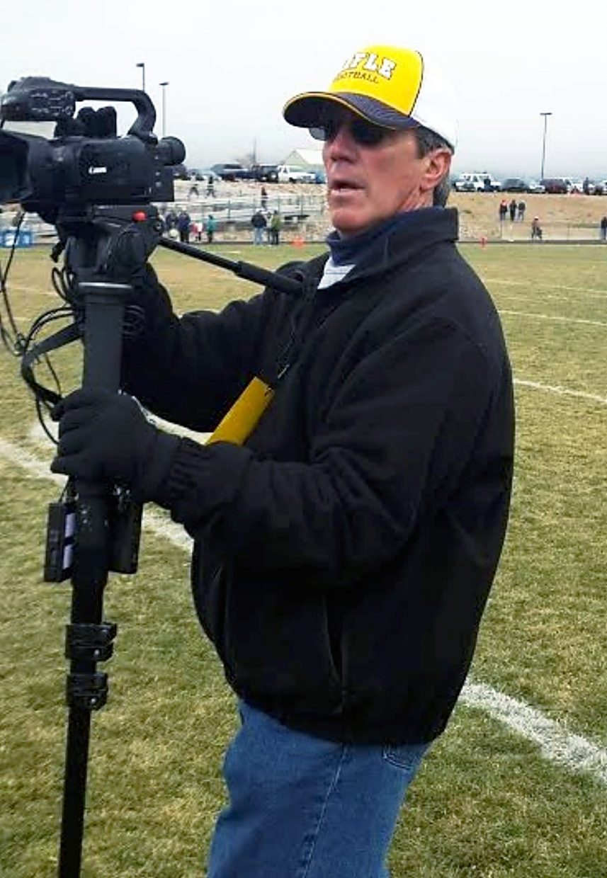 Fort Morgan High School Athletic Director Kyle Bules provided this photo of the man he said was the videographer he asked to leave Fort Morgan's sideline during Rifle's 3A state semifinal football game Nov. 22 against the Mustangs.
