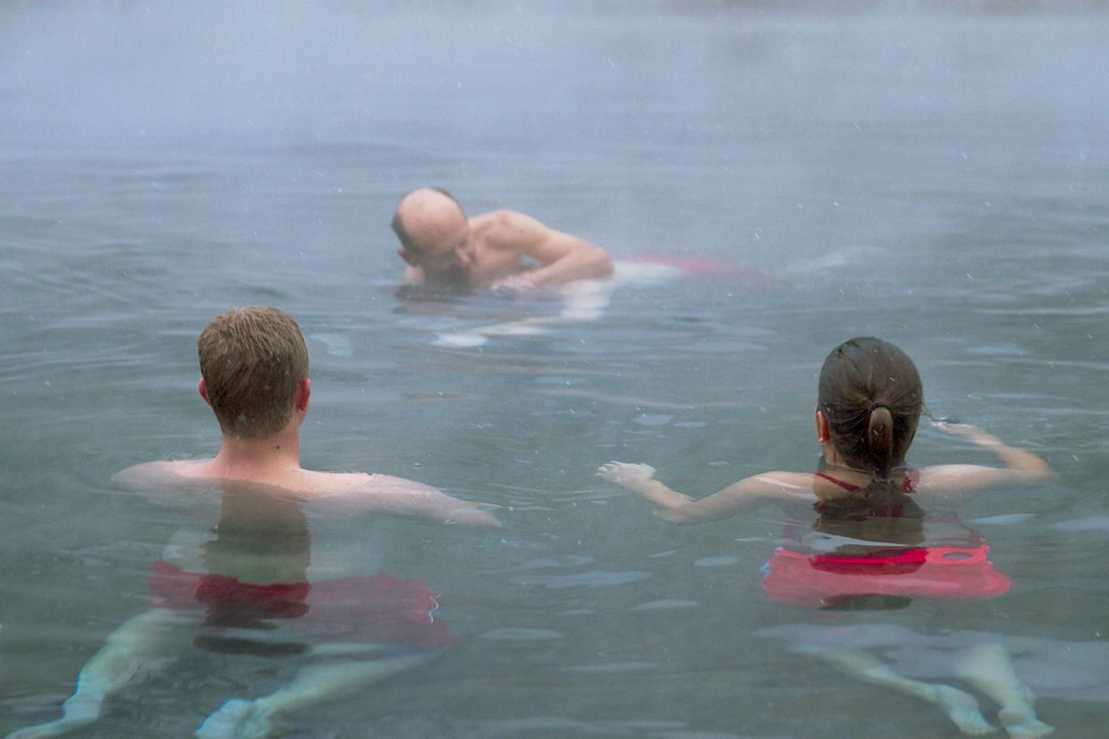 Lifeguards at the Glenwood Hot Springs participated in a mandatory boot-camp style training session Saturday morning.  Each lifeguard is trained and certified according to American Red Cross specifications. Four hours of in-service training is required for each lifeguard every month.