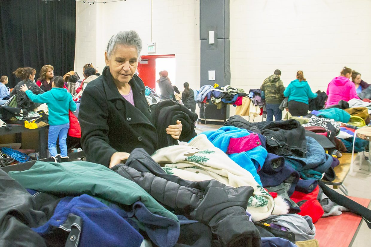 Alisia Salais of Carbondale took advantage of the Roaring Fork Recoat event Saturday afteroon. The coat drive continues from 10 a.m.-2 p.m. today at the Carbondale Third Street Center.