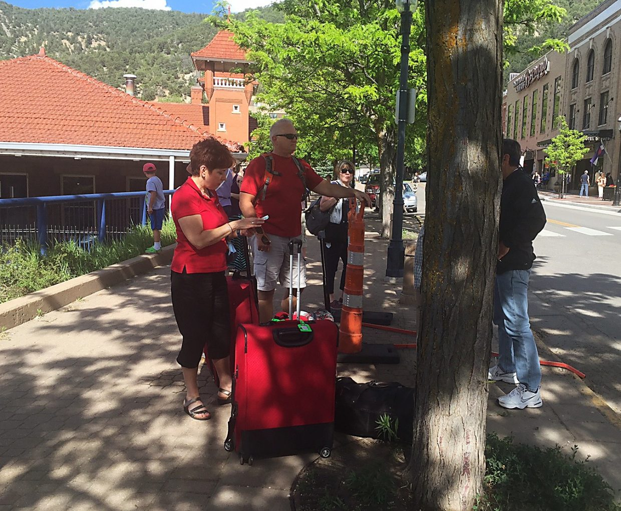 On the bright side, it was a nice day in Glenwood Springs, where westbound California Zephyr passengers were stranded after the train collided with a pickup truck at a crossing west of town.
