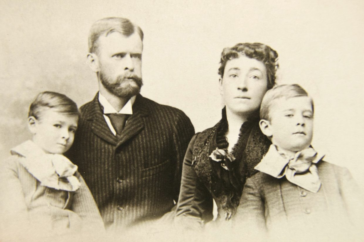 The Devereux Family during a trip to Cairo, ca. 1888.