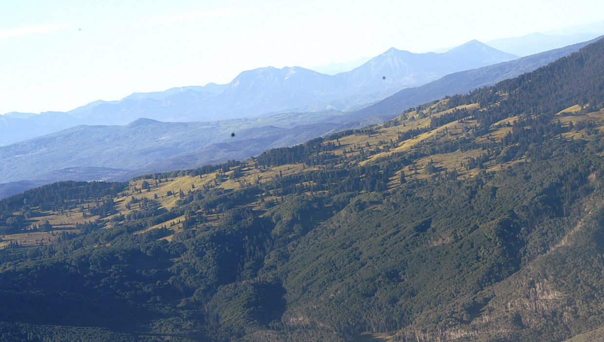 The backcountry below Mamm peaks as seen from the air courtesy EcoFlight pilot Bruce Gordon,