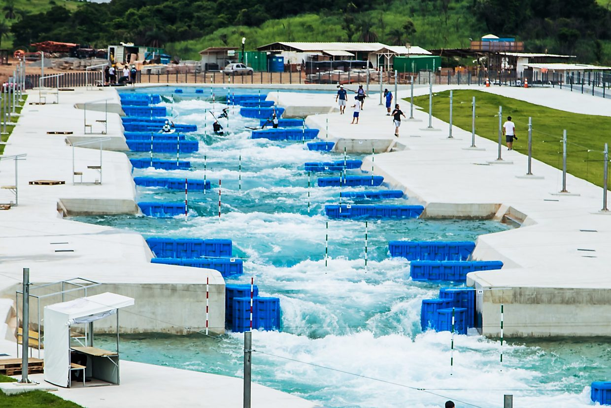The artificial whitewater portion of the whitewater park at the Rio Olympics.