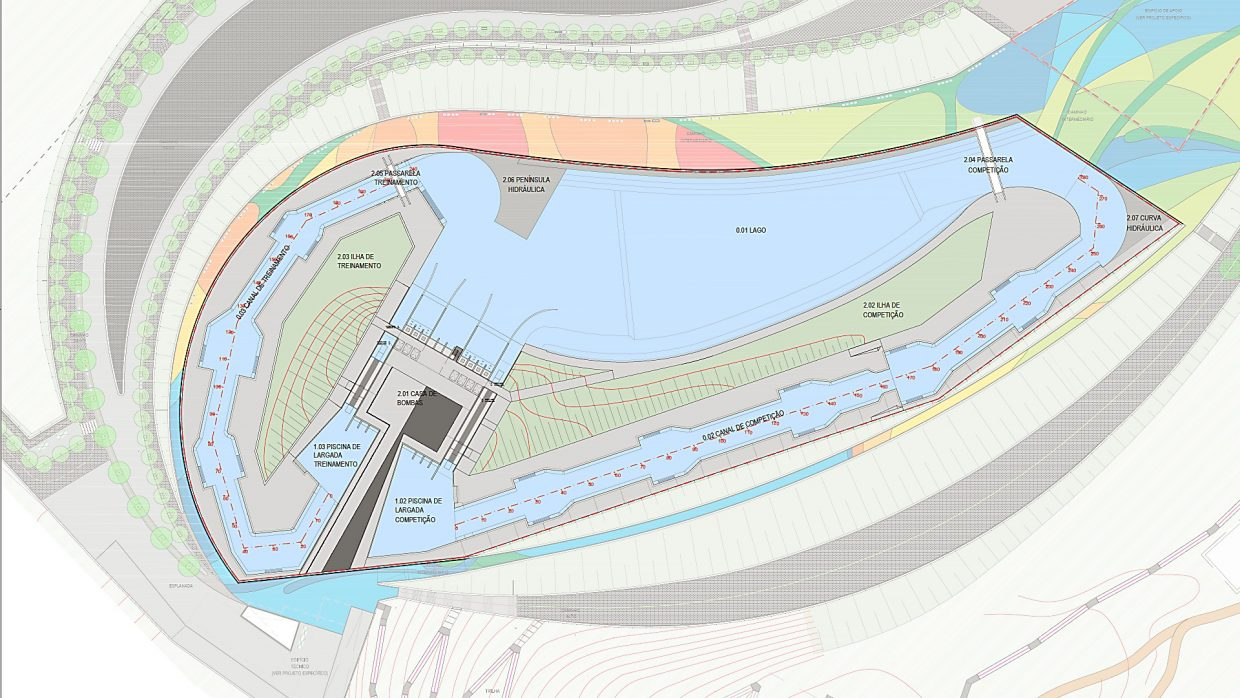 Blueprint plans of the whitewater park for the Rio Olympics, provided to the Post Independent by Whitewater Parks International, LLC. (PROVIDED)