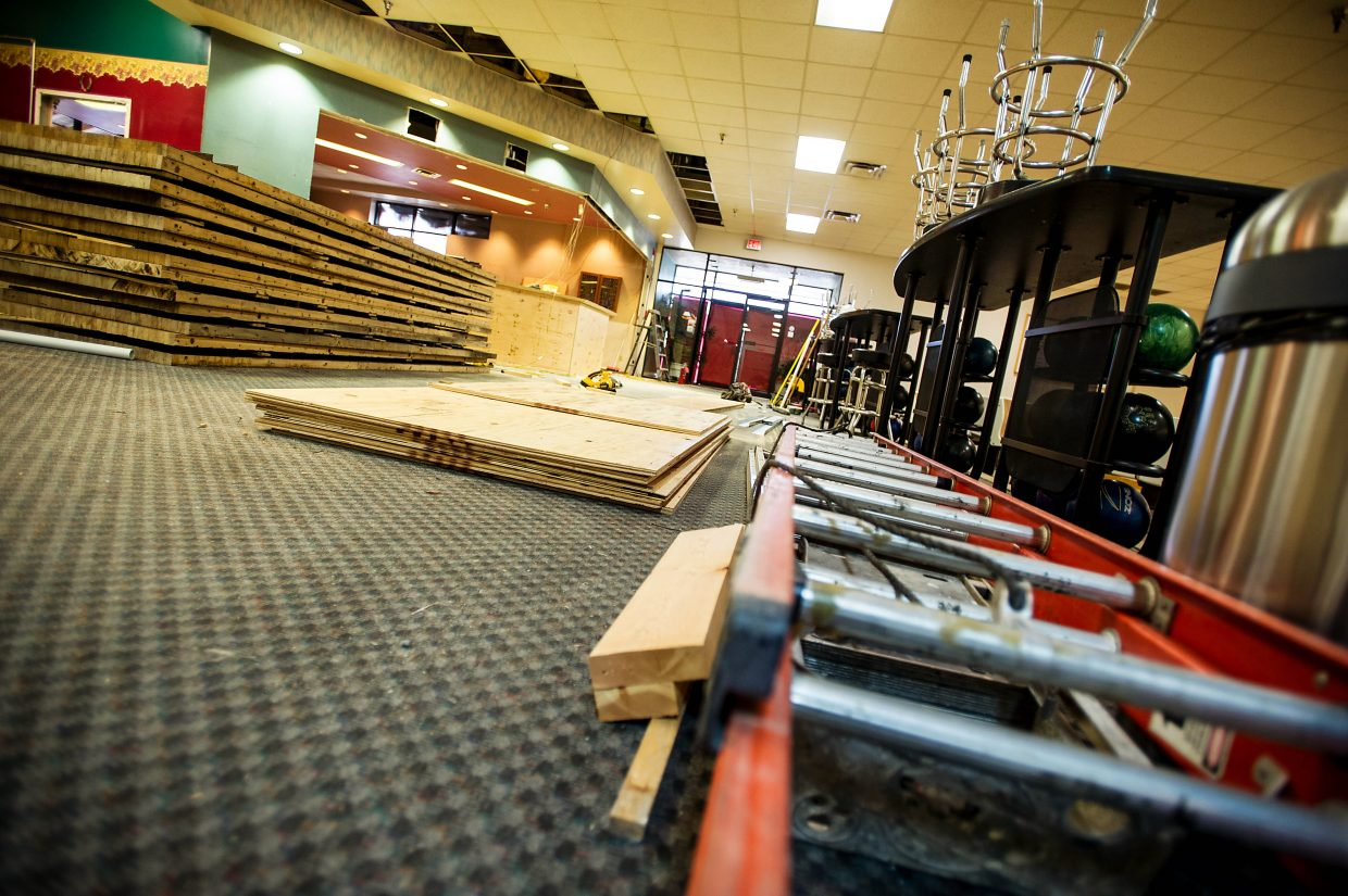 Renovations are underway at the previously named El JeBowl bowling alley in El Jebel. Interior renovations include an expanded bar. There will be wait service for food and drink when they open next month.