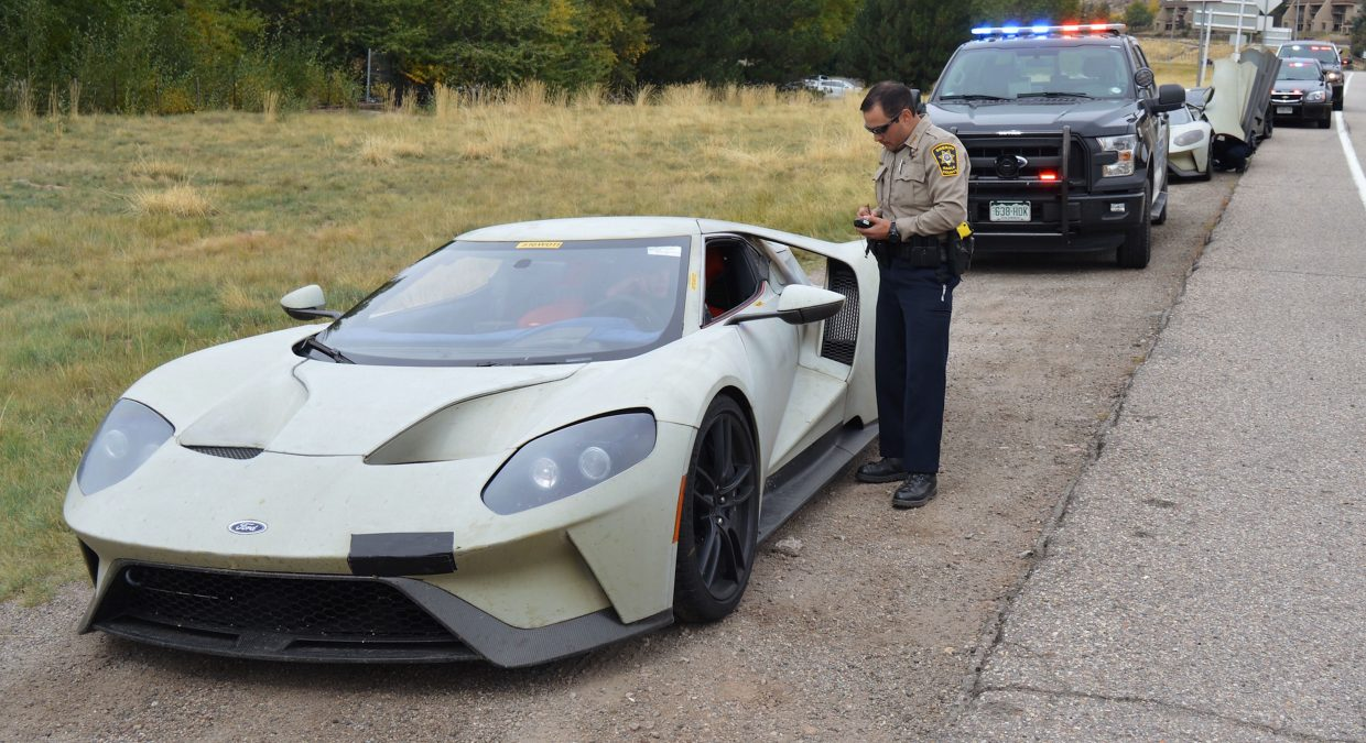 A trio of of Ford GT prototypes rolled through Eagle County way above the posted speed limit. That attracted the attention of a host of local law enforcement officers. The cars were in the region for high altitude testing.