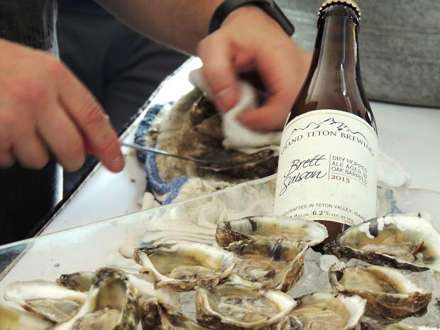 Denver-based Jax Fish House offered dozens of hand-shucked oysters and oysters on the half-shell, all paired with a barrel-aged Brett Saison.