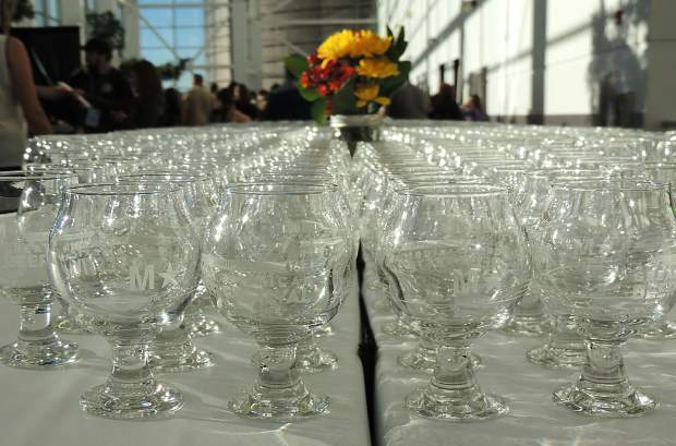 Thousands of tasting glasses were handed out, filled and refilled during the 2016 Great American Beer Festival in Denver Oct. 6-8.