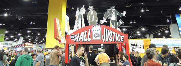 The Great Hall, with Ska Brewing's Hall of Justice, was wall-to-wall beer lovers during the Great American Beer Festival.