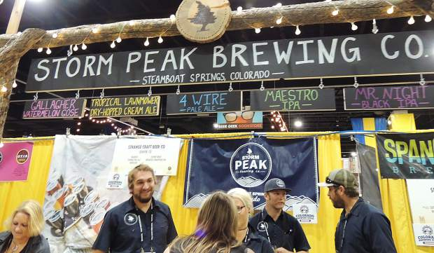 Storm Peak Brewing Co.represented at the Great American Beer Festival as the only brewery out of Steamboat Springs.