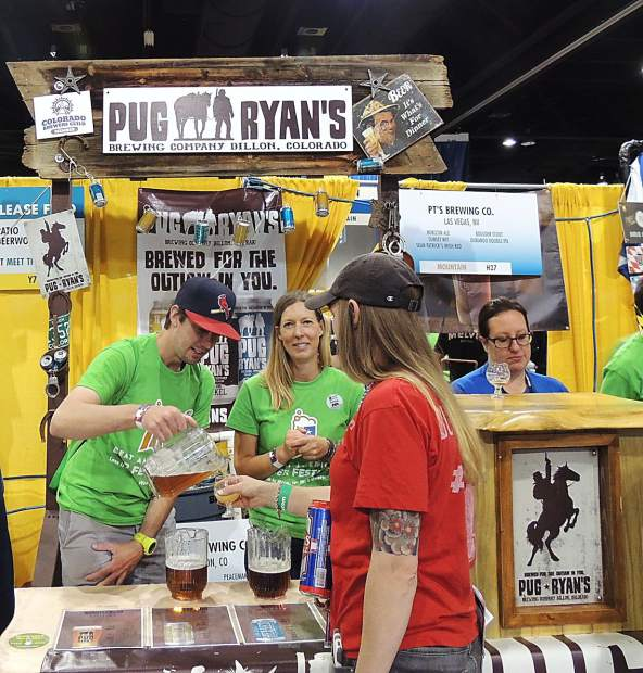 Pug Ryan's pulled in beer drinkers with a fully decked out booth at the Great American Beer Festival.