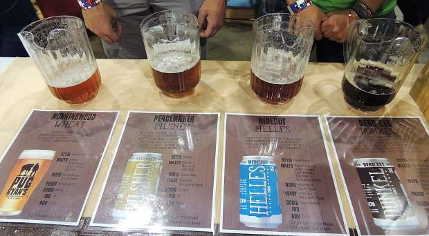 Dillon-based Pug Ryan's served up four brews including Dead Eye Dunkel, Peacemaker Pilsner, Hideout Helles and Morning Wood Wheat.