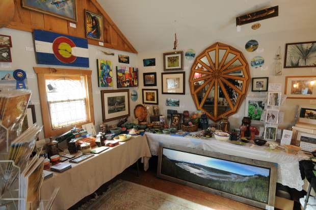 Crack in the Wall Gallery is crammed full of local art.