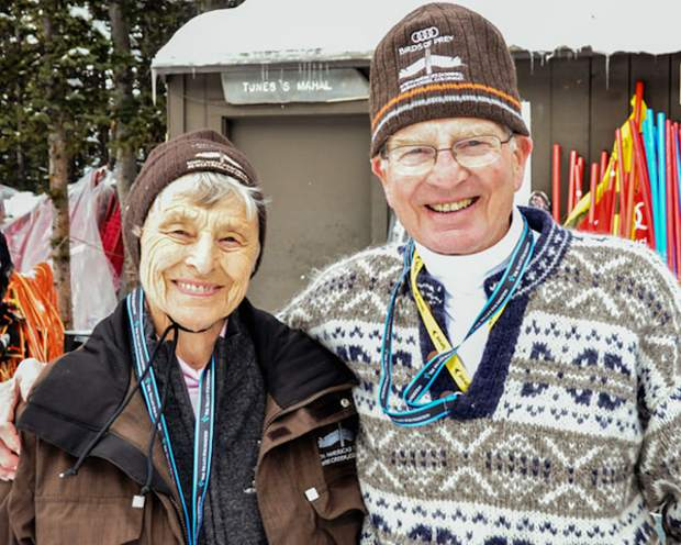 Mary and Dick Pownall at one of the local World Cup events. They helped run the Vail Valley Foundation's volunteer corps for years.