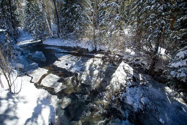 Castle Creek from a bridge off of Midnight Mine Rd 15-A.