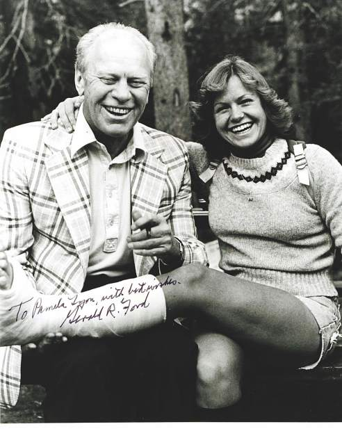 Gerald Ford was the only person who autographed Pamela (Lyon) Tafoya's cast when she broke her leg in 1980. He signed the cast at the annual party for volunteers who worked the Jerry Ford Invitational golf tournament.