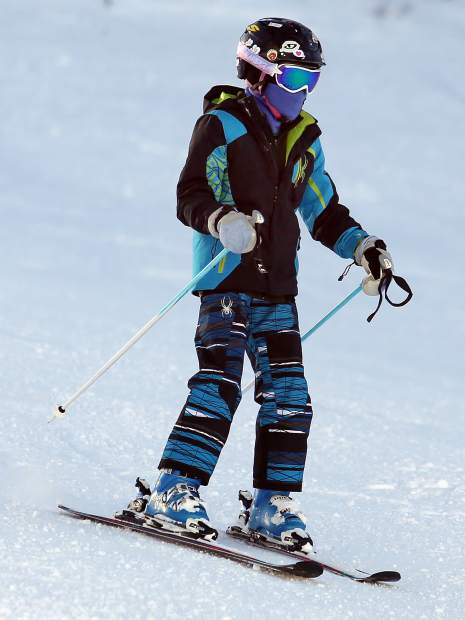 A skier takes to the slopes at Aspen Mountain on Tuesday.