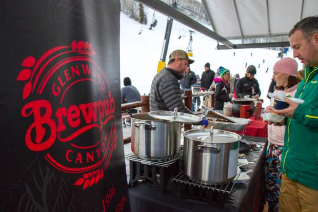 Glenwood Canyon Brewpub was one of 11 vendors giving out samples during the Taste of Sunlight.