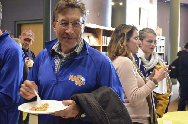 Roaring Fork School District Superintendent Rob Stein joined students for the