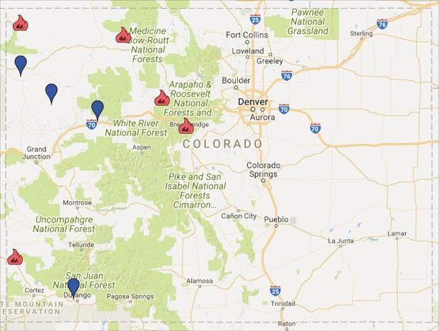 Wildfires currently consuming more than 33,000 acres across Colorado ...