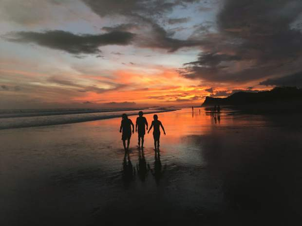 The 1.5 mile stretch of sand on the west coast of Nicaragua. Here, the children walk home with Playa Iguana on one end and Playa Colorado on the other.
