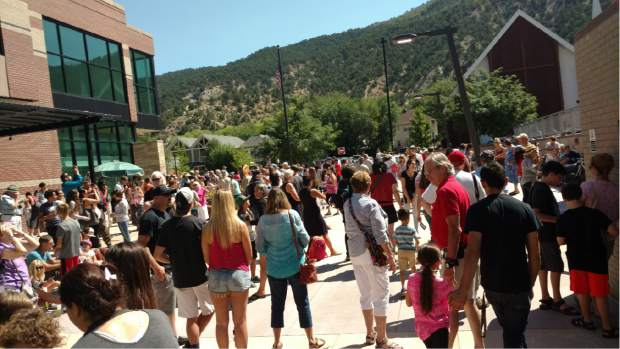 Scores of people hang out Tuesday at the Glenwood Springs Library for the Great American Eclipse.