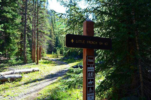 Little French Gulch trail is mainly used by mountain bikers, but is a straight shoot to the scree yard underneath Mount Guyot. It can be accessed from Wellington Road in Breckenridge.