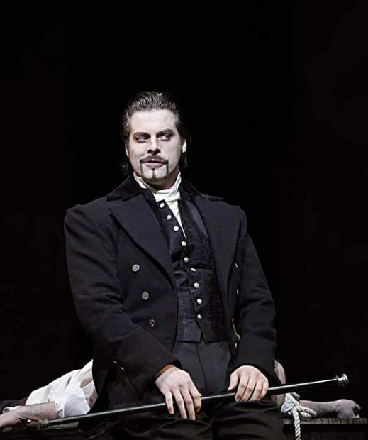 Bass-baritone John Relyea has played Méphistophélès in both the Gounod and Berlioz opera's based on the legend of Faust. Here he is in a San Francisco Opera production of Gounod's