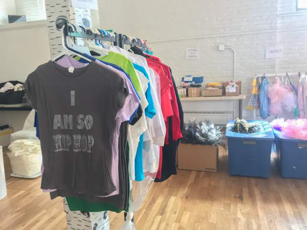 The Glenwood Springs Center for the Arts sale includes a variety of children's clothing.