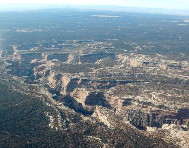 A view of the Fish and Owl Canyon network, a popular backpacking destination in Bears Ears National Monument.