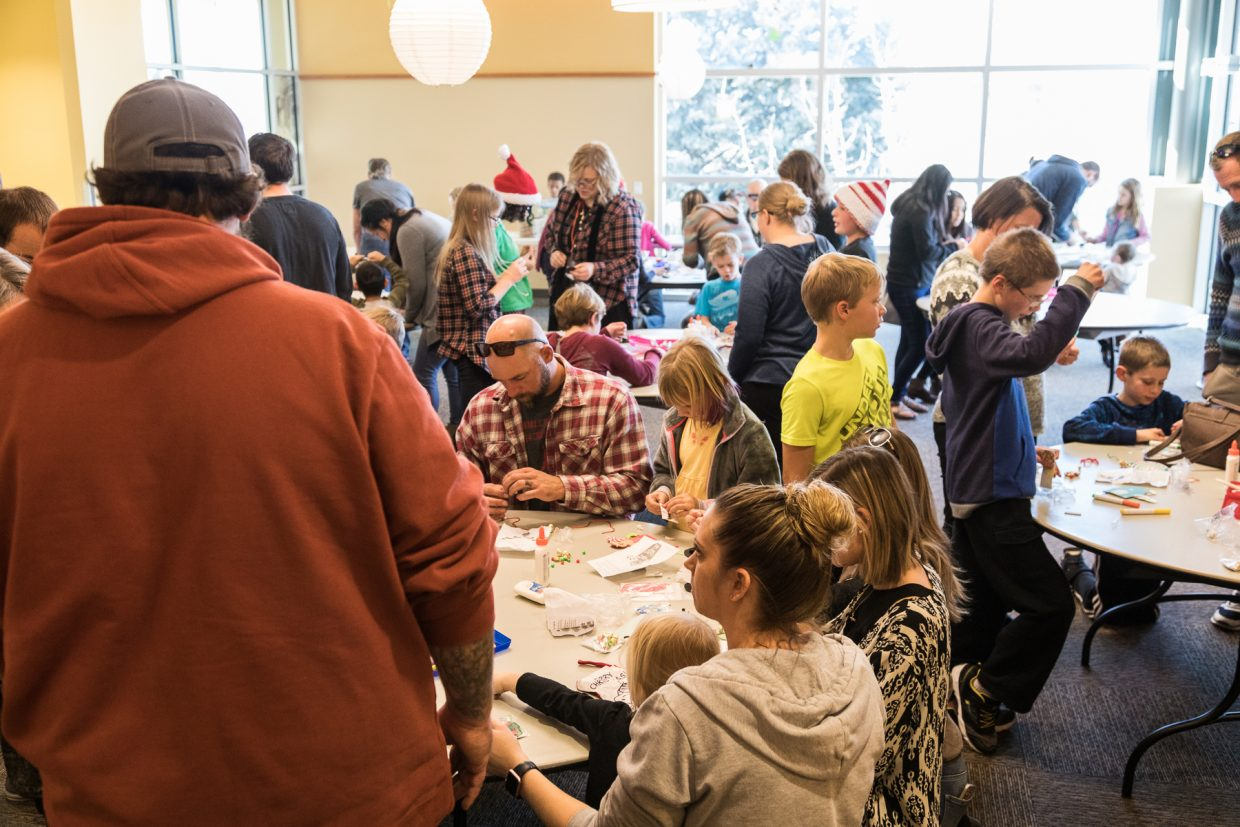 The Rifle Branch Library hosted ornament making all-day Saturday during Hometown Holidays.