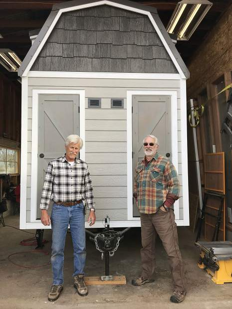 Bruce Hoffman and Randy Glassman have spent the past five months constructing this tiny house, which they will soon put on the market.
