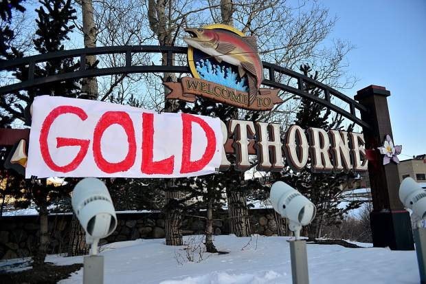 """The sign welcoming drivers into Silverthorne from eastbound Interstate 70 at exit 205 now reads """"Welcome to Goldthorne"""" after local Red Gerard won Olympic gold in the men's snowboard slopestyle."""