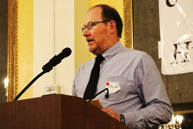 """Longtime Garfield County Search and Rescue member Tom Ice was honored with the """"Heart of the Operation"""" award at the Garfield County Humanitarian Service Awards celebration on Monday night in Glenwood Springs. Ice asked all present to keep the family of John Galvin, a 30-year Mountain Rescue Aspen member who died Sunday in an avalanche near Aspen Highlands, in their hearts and prayers."""