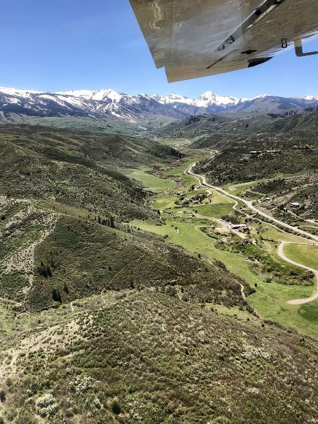 The view as seen Wednesday from EcoFlight's tour of public lands throughout the Roaring Fork Valley.