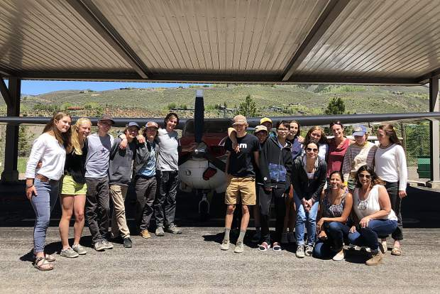 The Aspen-based nonprofit EcoFlight flew juniors from the Colorado Rocky Mountain School's Advanced Placement Environmental Science class over the valley for a tour of public lands.