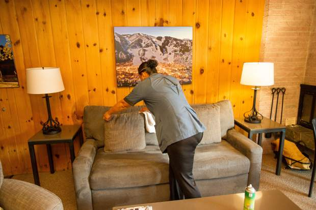 Housekeepers at Aspen Square Condominium Hotel wipe down every surface, including alarm clocks; scrub the showers and toilets; and inspect even already-clean dishes.