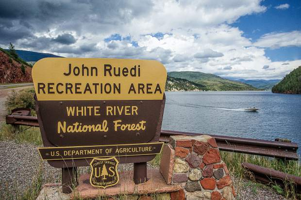 Ruedi Reservoir is located about 15 miles east of Basalt up the Fryingpan River.