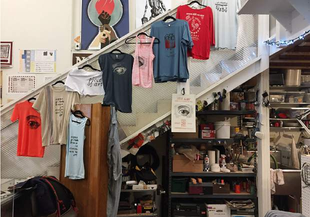 One of the artist studios at Carbondale Studio for Arts and Works (SAW) shop; one of the town's many bustling artistic hubs.