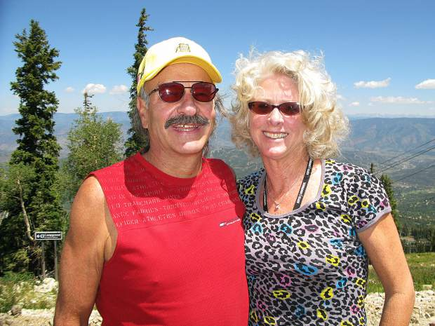 Jack and Ruth Hatfield hiking at Snowmass Ski Area. Jack was drawn to the mountain from Florida, where he was raised.