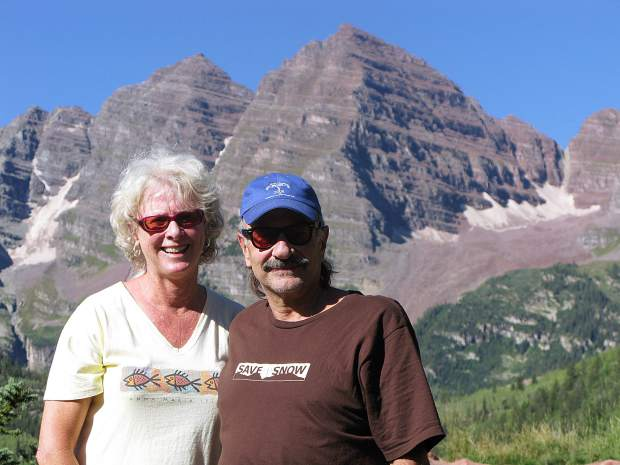 Jack and Ruth Hatfield soak in the beauty of the Maroon Bells. Jack will be remembered for his defense of wildlife and the environment as an elected official.