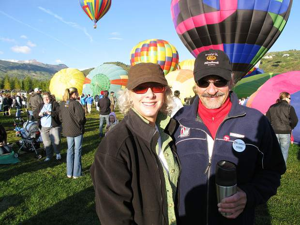 Jack Hatfield and his wife, Ruth, attend the Snowmass Balloon Festival. They were immersed in all activities in Snowmass Village.