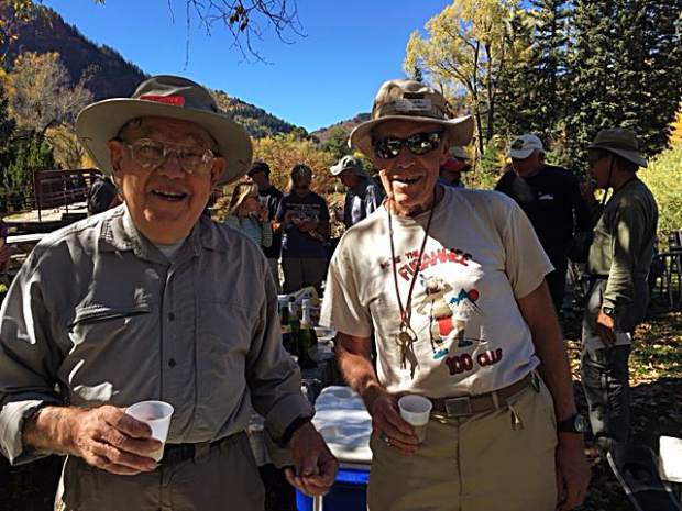 Hal Sundin, right, with Jitter Nolan, another amazing senior member of the 100 Club hiking group.