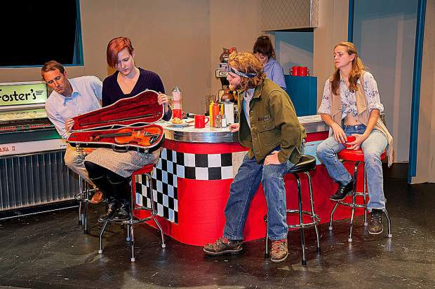 From left, Ben Bookout, Erica Massender, Evan Piccolo, Hadley Hiebert and Suzie Bradley are thrown together in a small Southwestern diner in Sopris Theatre Company's production of