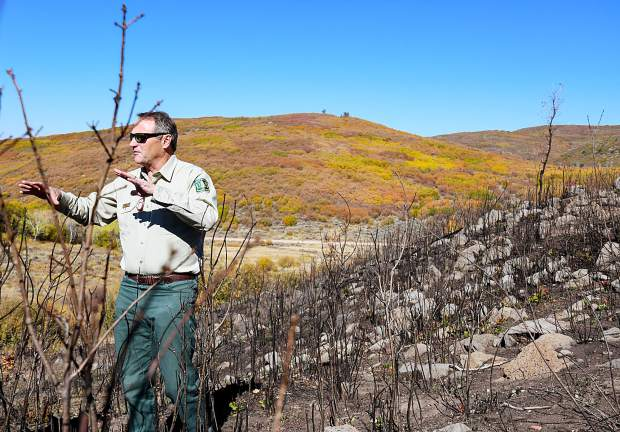 Scott Fitzwilliams, supervisor for the White River National Forest explains the purpose of controlled burns and how they help prevent the spread of fires such as the Lake Christine Fire that broke out in July.
