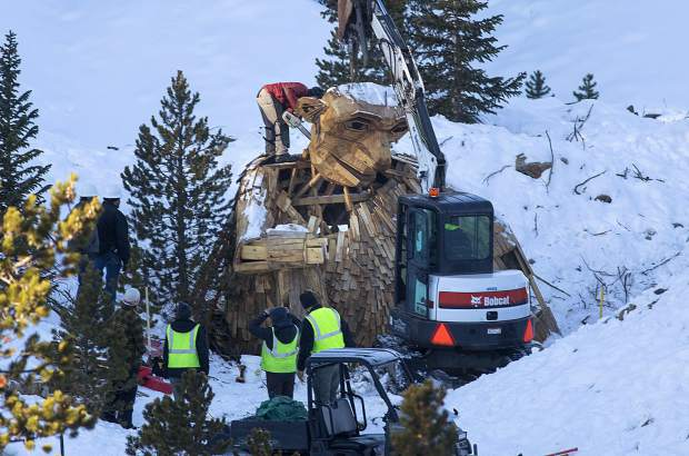 Early Thursday morning, the Town of Breckenridge employees beheads