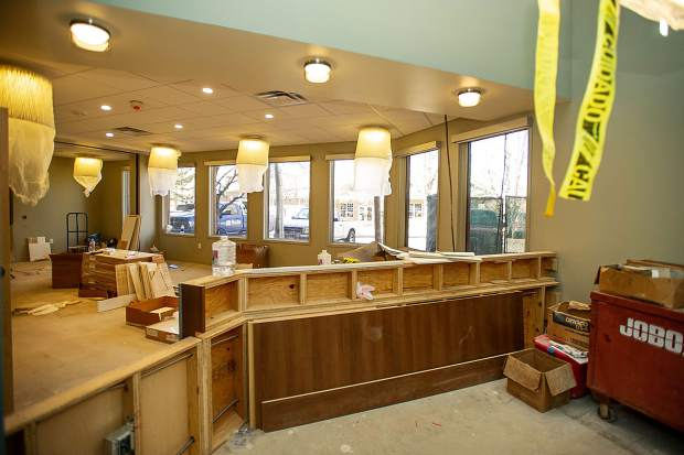 The main lobby and reception area for the new Basalt Integrated Health Center located next to Stubbies.
