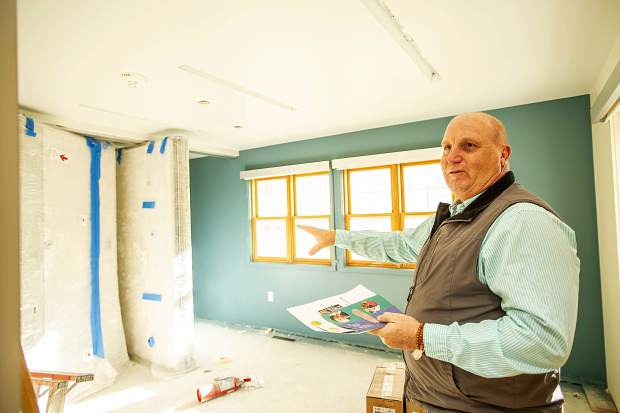 Mountain Family Health Development Director Garry Schalla shows an upstairs meeting area in the new Basalt Integrated Health Center located next to Stubbies.