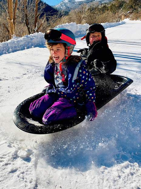 Paul Owens' son-in-law, Jeff Eversman, took this picture of Avery and Erik on the sled on a private road near Glenwood. #postsnaps