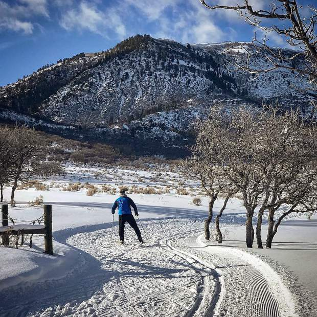 @photos.livinlight - Late afternoon Nordic skiing at Spring Gulch. #postsnaps